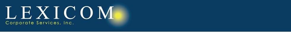 Lexicom Corporate Services Logo